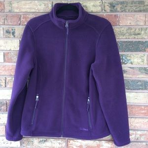 L.L. BEAN Purple Polartec Fleece Full Zip Jacket